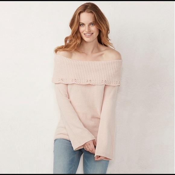 LC Lauren Conrad Sweaters - LC Lauren Conrad Off The Shoulder Sweater. NWT